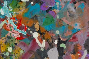 Abstract expressionism painting - Alien jungle #1 - Detail 4