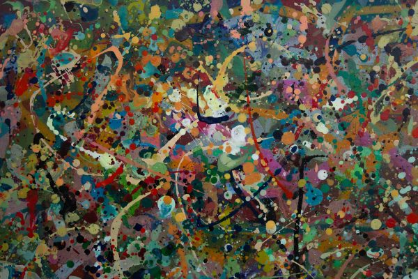 Abstract expressionism painting - Alien jungle #2 - Detail 5