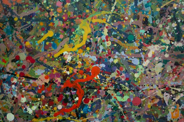 Abstract painting - Alien jungle 2 - Detail 3