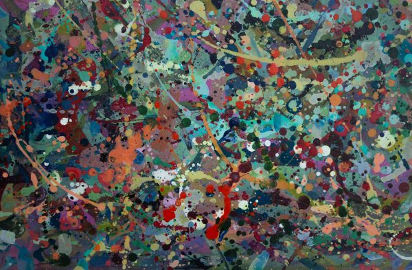 Abstract painting - Alien jungle 2 - Detail 1