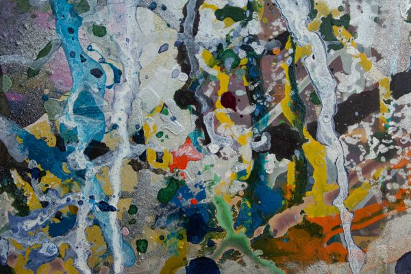Abstract painting - Alien Landscape 2 - The power of idiots - Detail 2