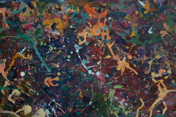 Abstract painting - Alien Teddy Bear Dance Party - Detail 1