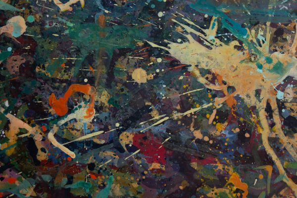 Abstract painting - Alien Teddy Bear Dance Party - Detail 2