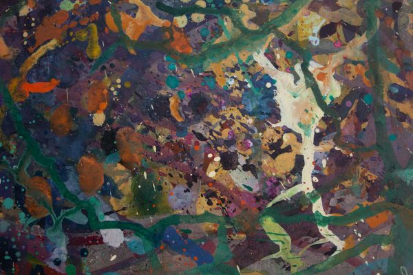 Abstract painting - Alien Teddy Bear Dance Party - Detail 3