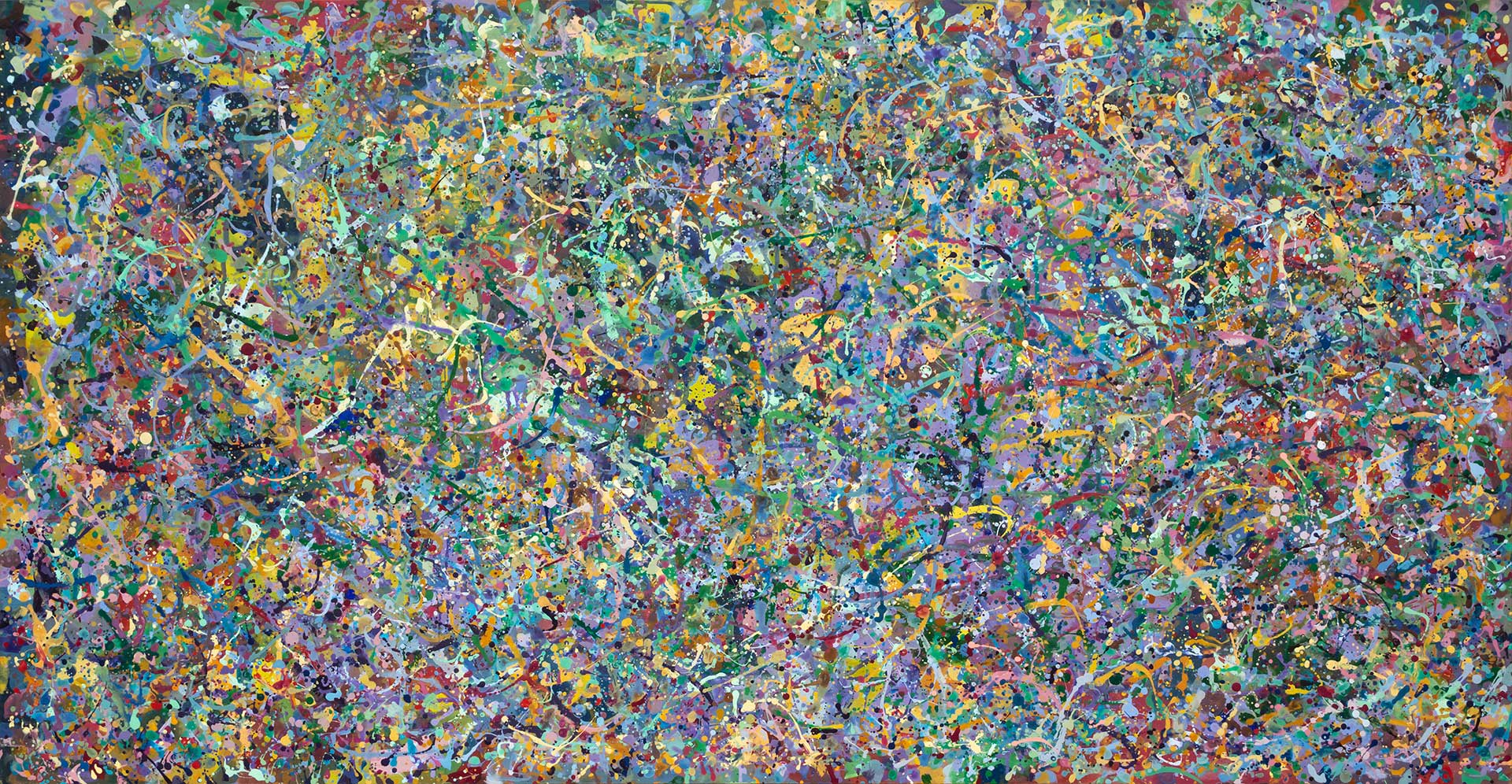 Abstract expressionism painting - Butterfly orgy
