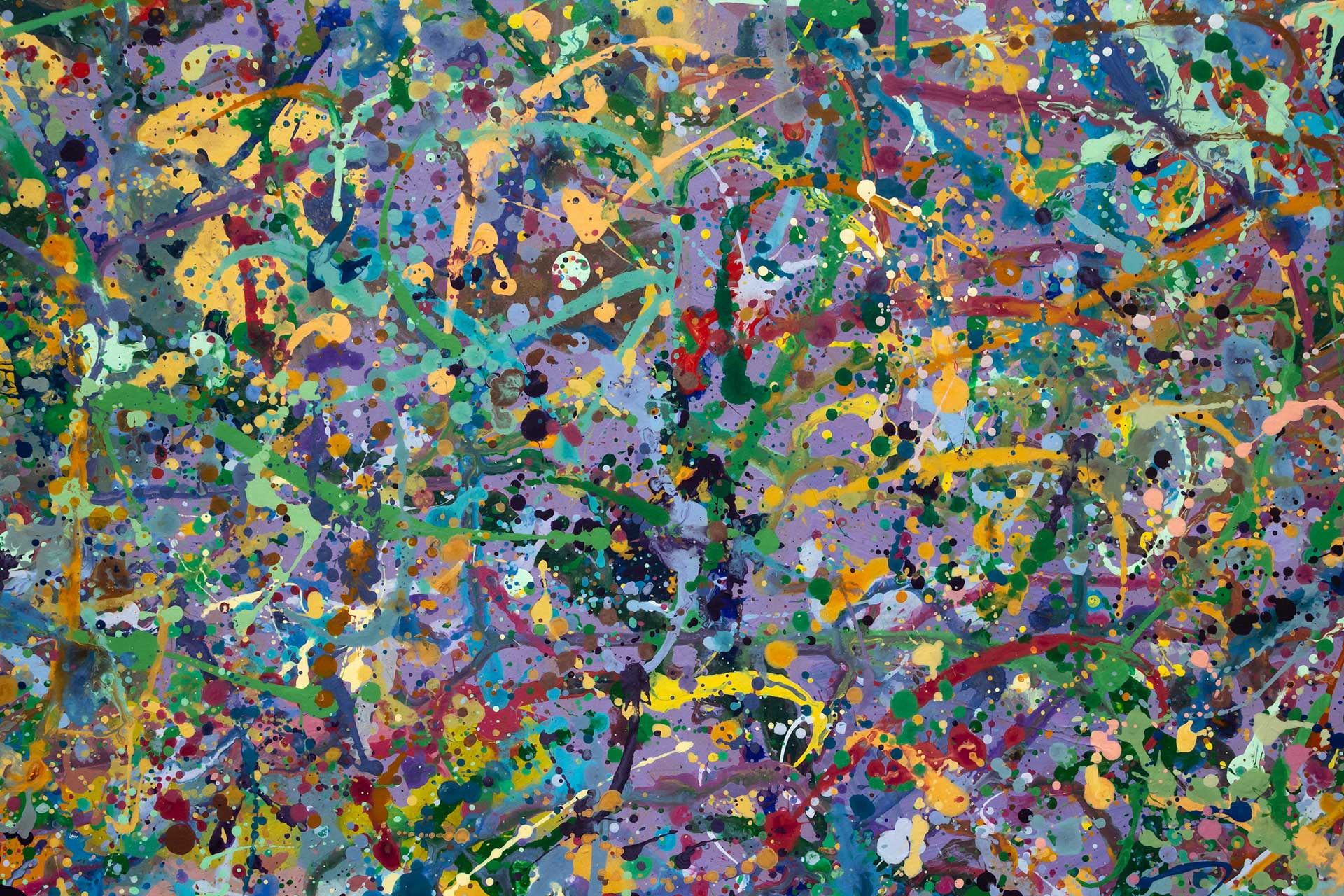Abstract expressionism painting - Butterfly orgy - Detail 5