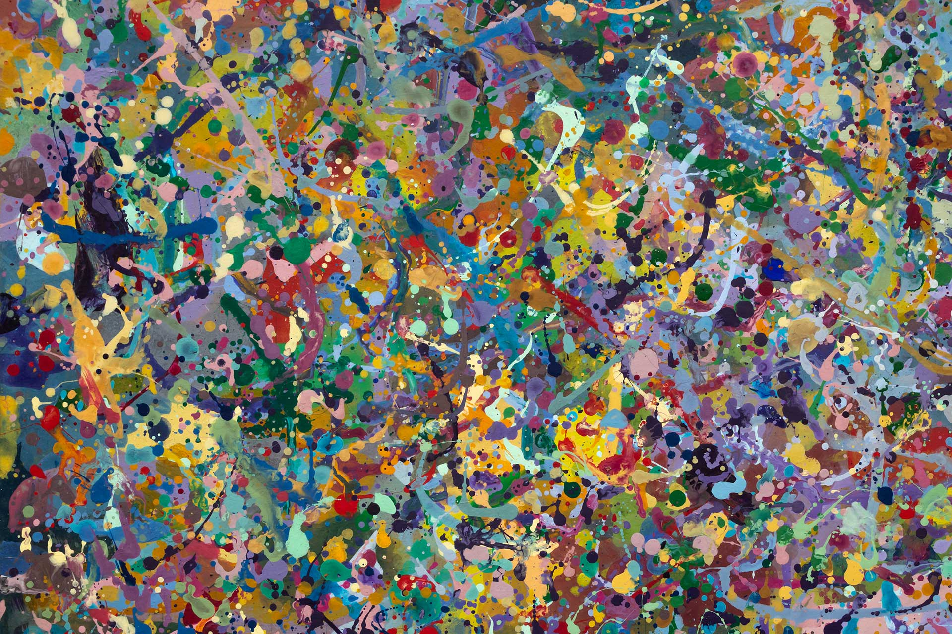 Abstract expressionism painting - Butterfly orgy - Detail 6