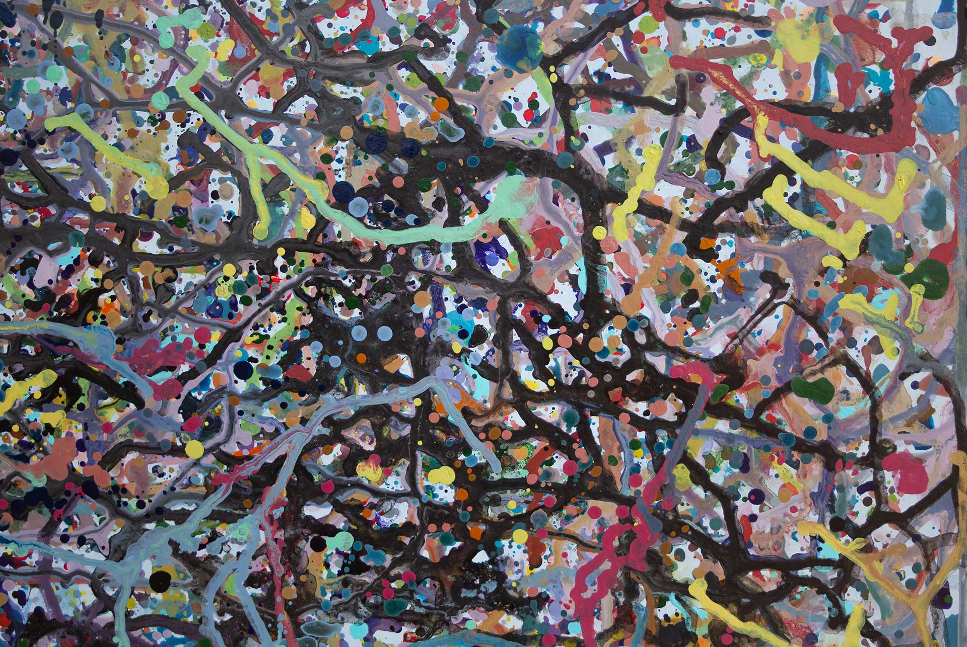 Abstract expressionism painting - Celebrities at a Party in Palm Beach - Detail 4