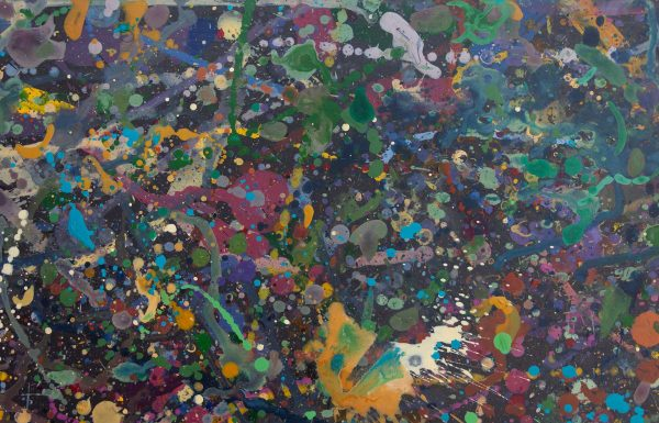Abstract painting - Celebrities at a party in Yarra Glen - Detail 1