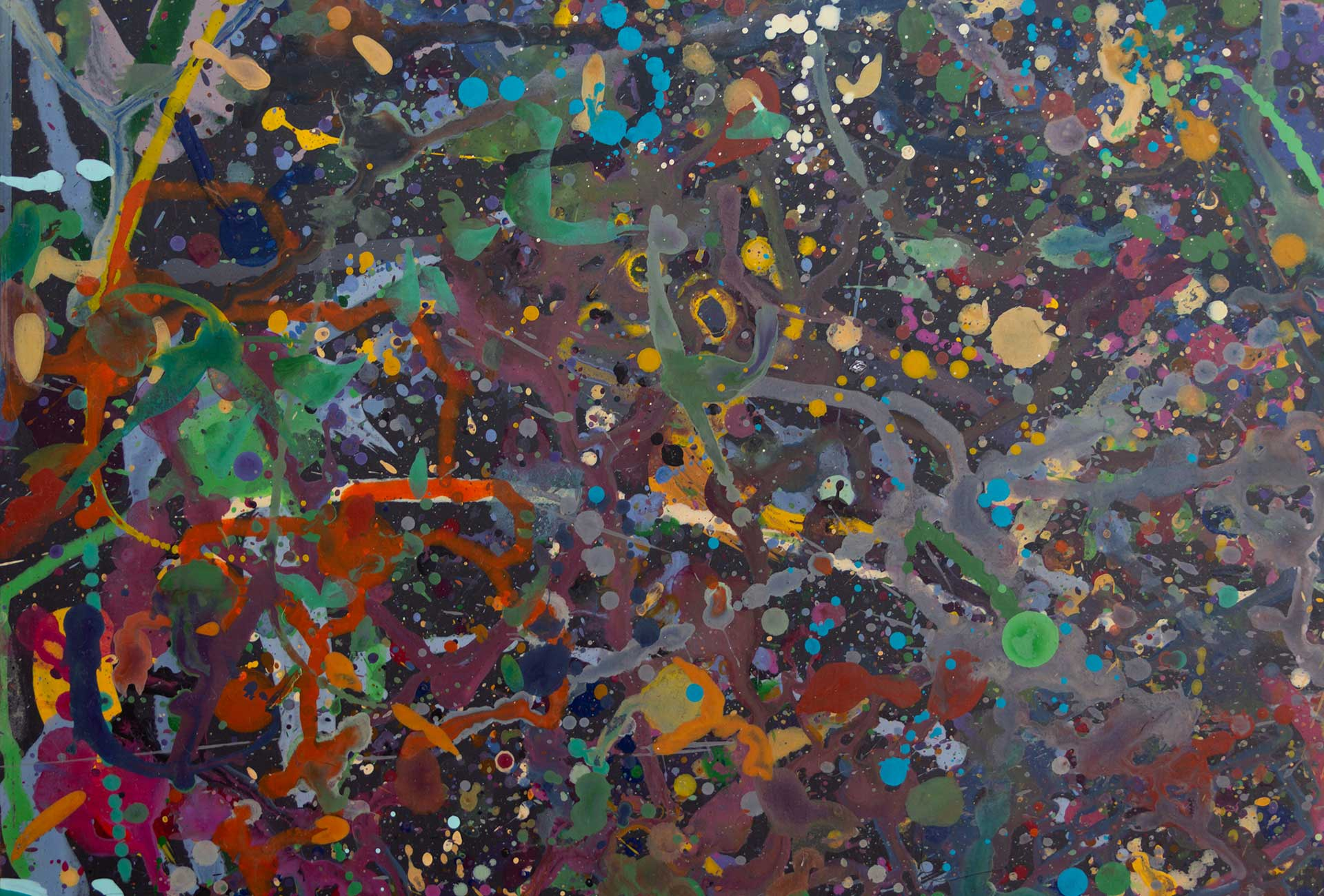 Abstract expressionism painting - Celebrities at a party in Yarra Glen - Detail 2