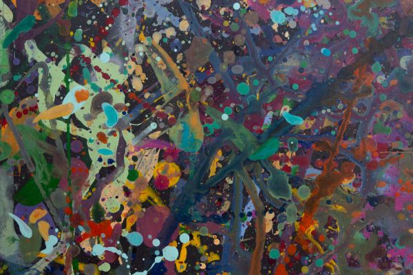Abstract painting - Celebrities at a party in Yarra Glen - Detail 3