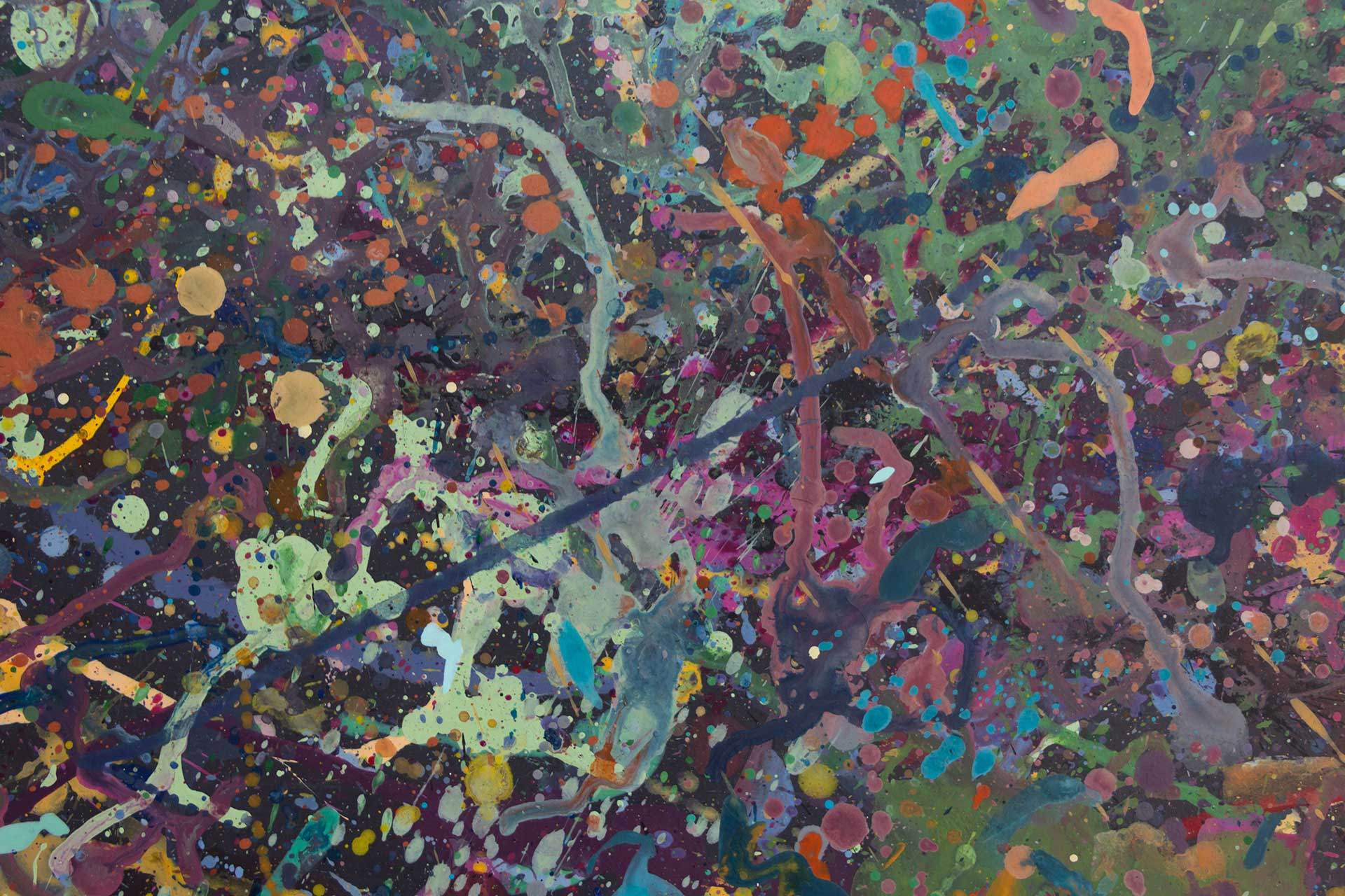 Abstract expressionism painting - Celebrities at a party in Yarra Glen - Detail 5