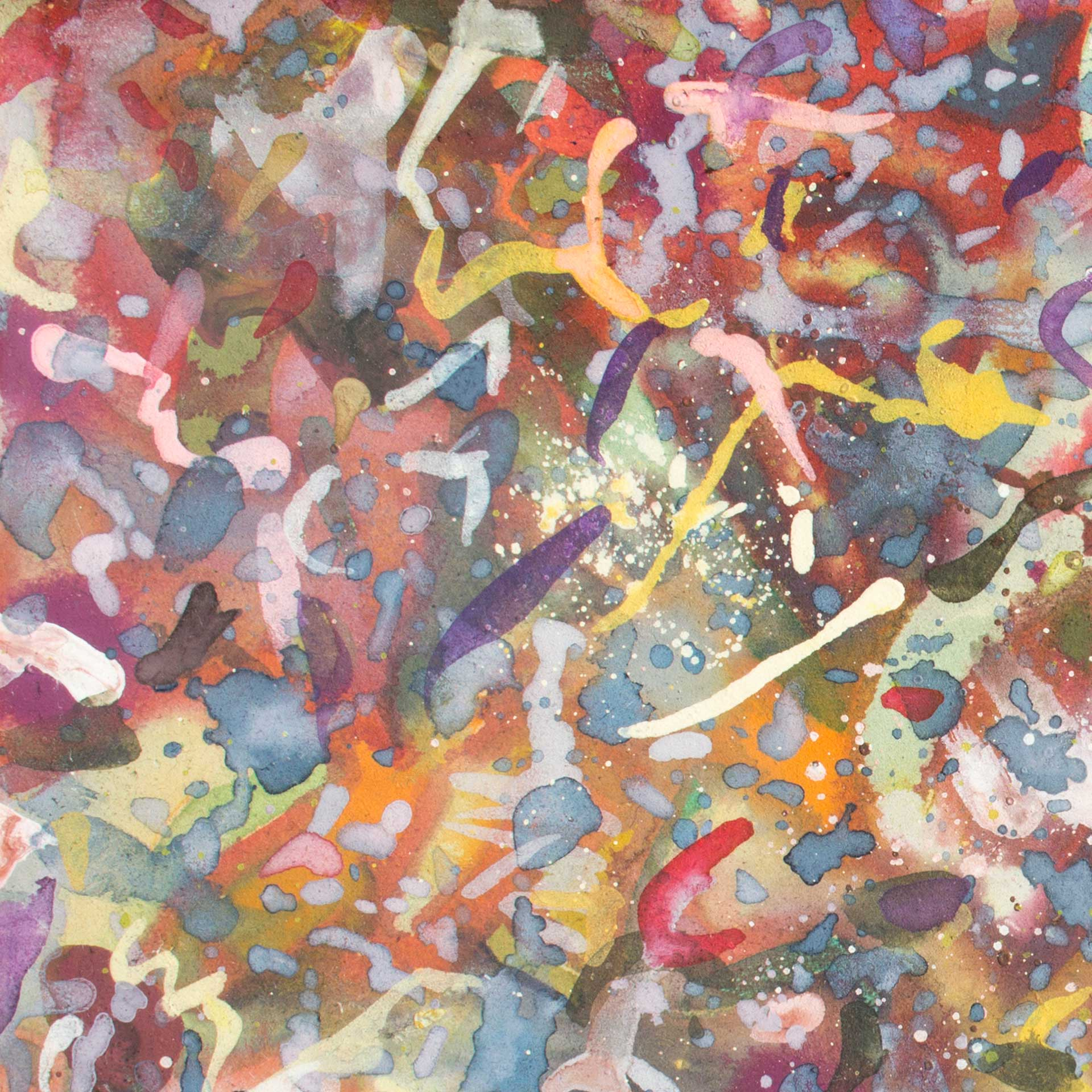 Abstract expressionism painting - Dangerous dancers - Detail 1