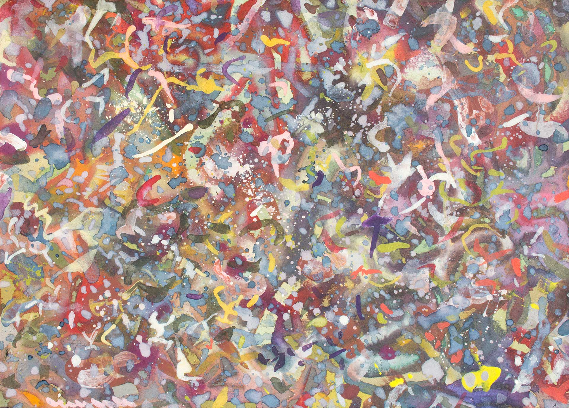 Abstract expressionism painting - Dangerous dancers