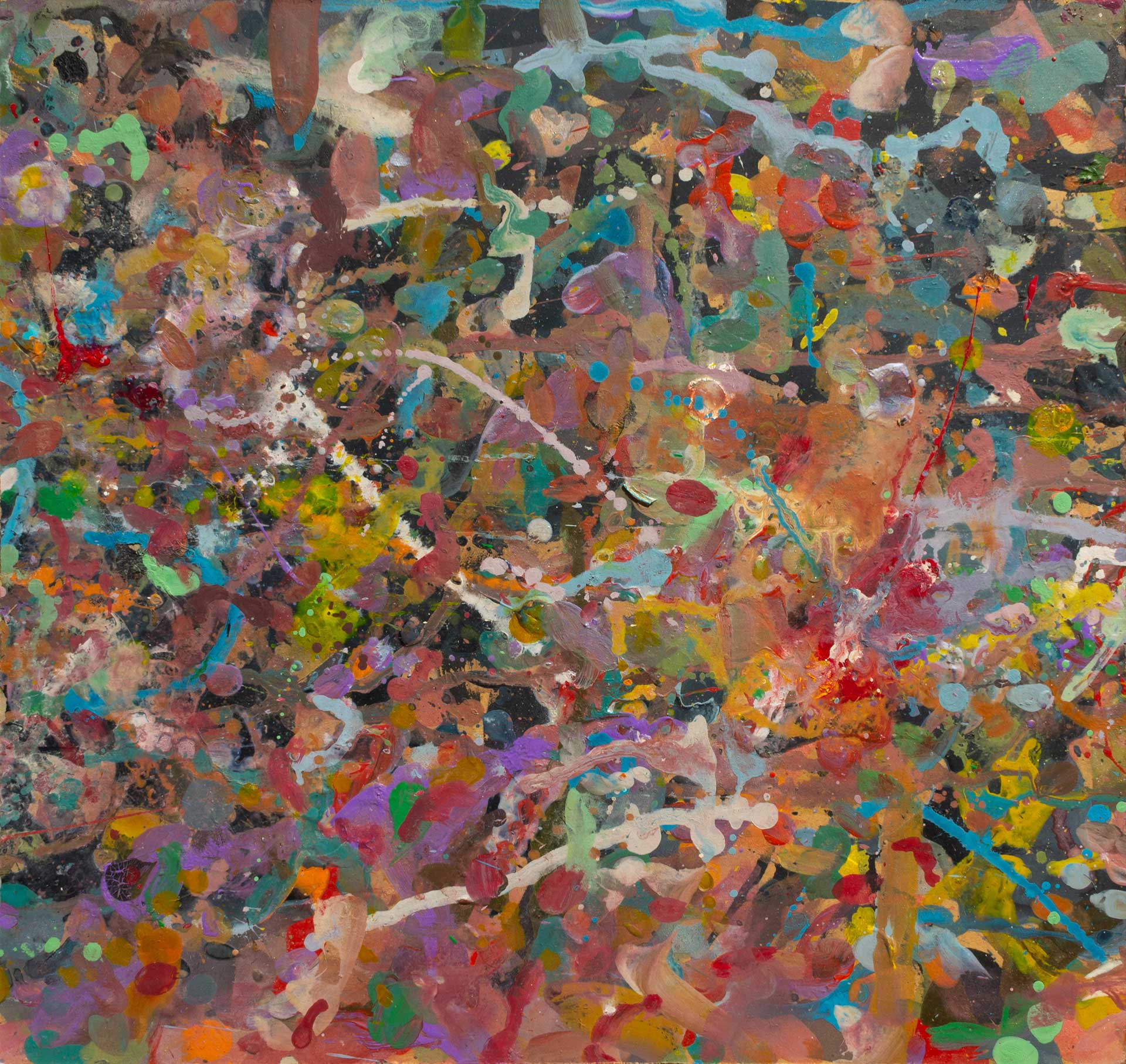 Abstract expressionism painting - Demon