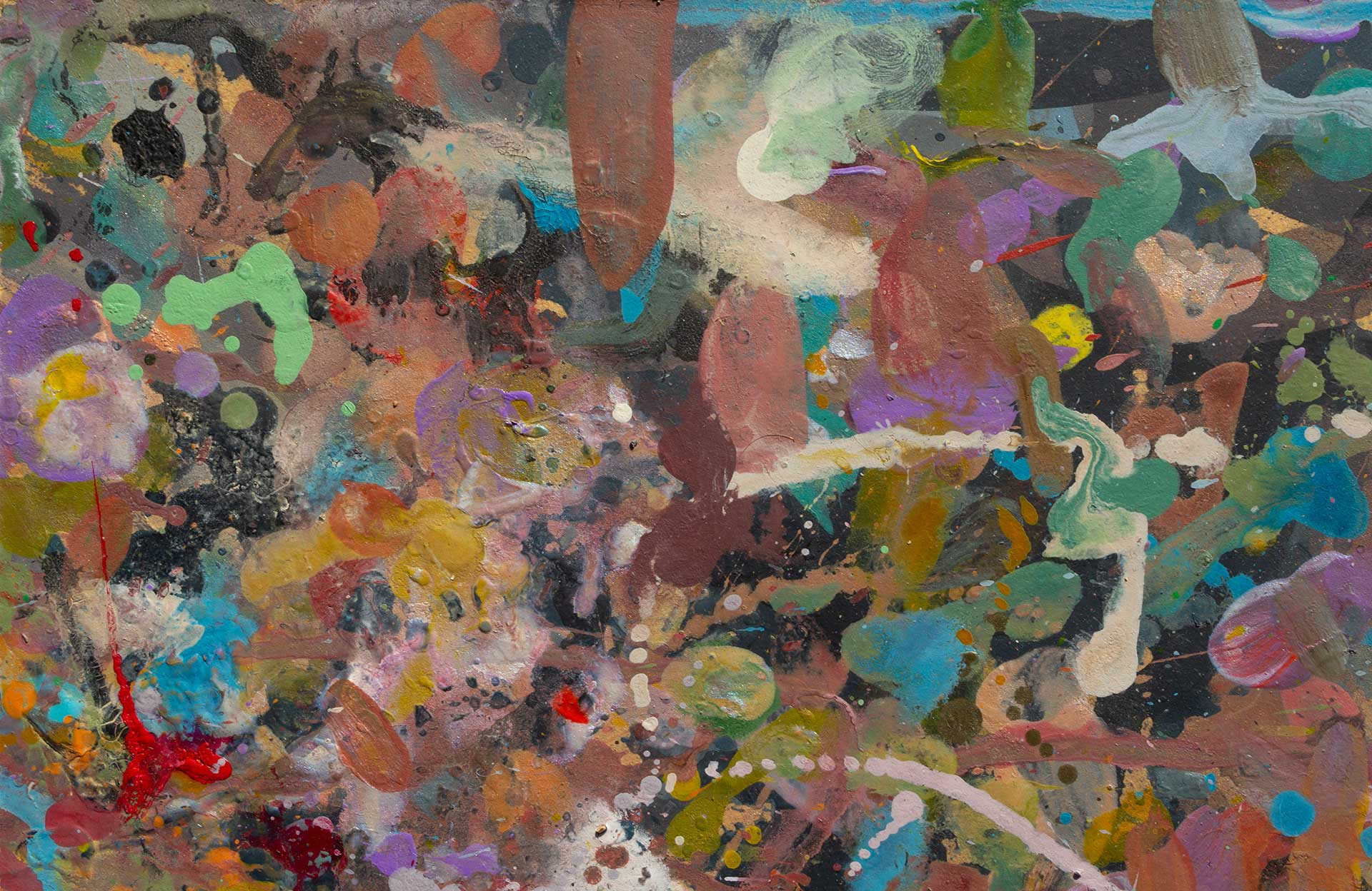 Abstract expressionism painting - Demon - Detail 1