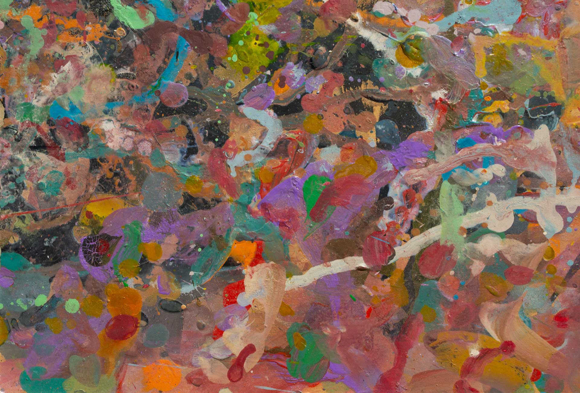 Abstract expressionism painting - Demon - Detail 4