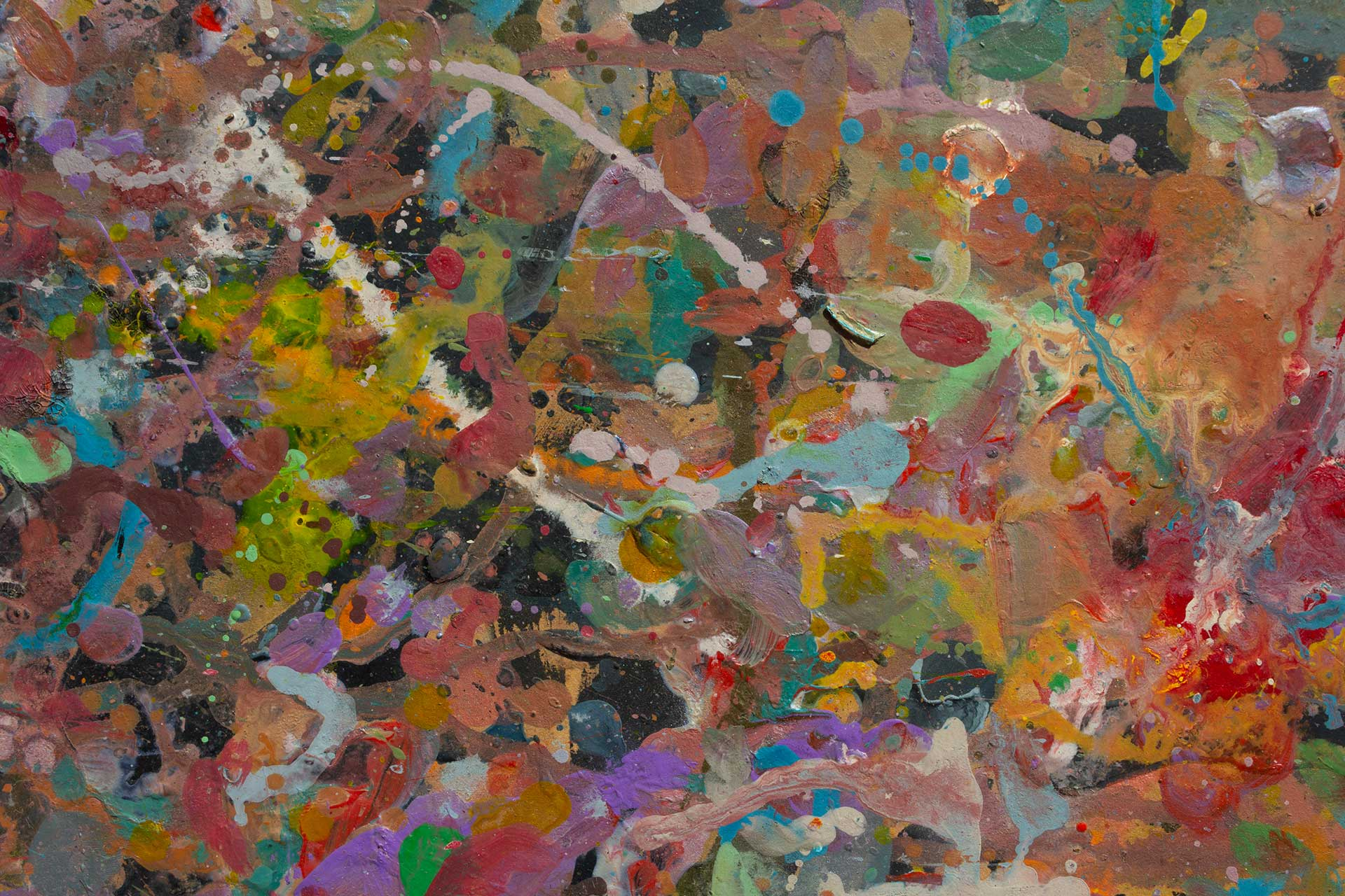 Abstract expressionism painting - Demon - Detail 5