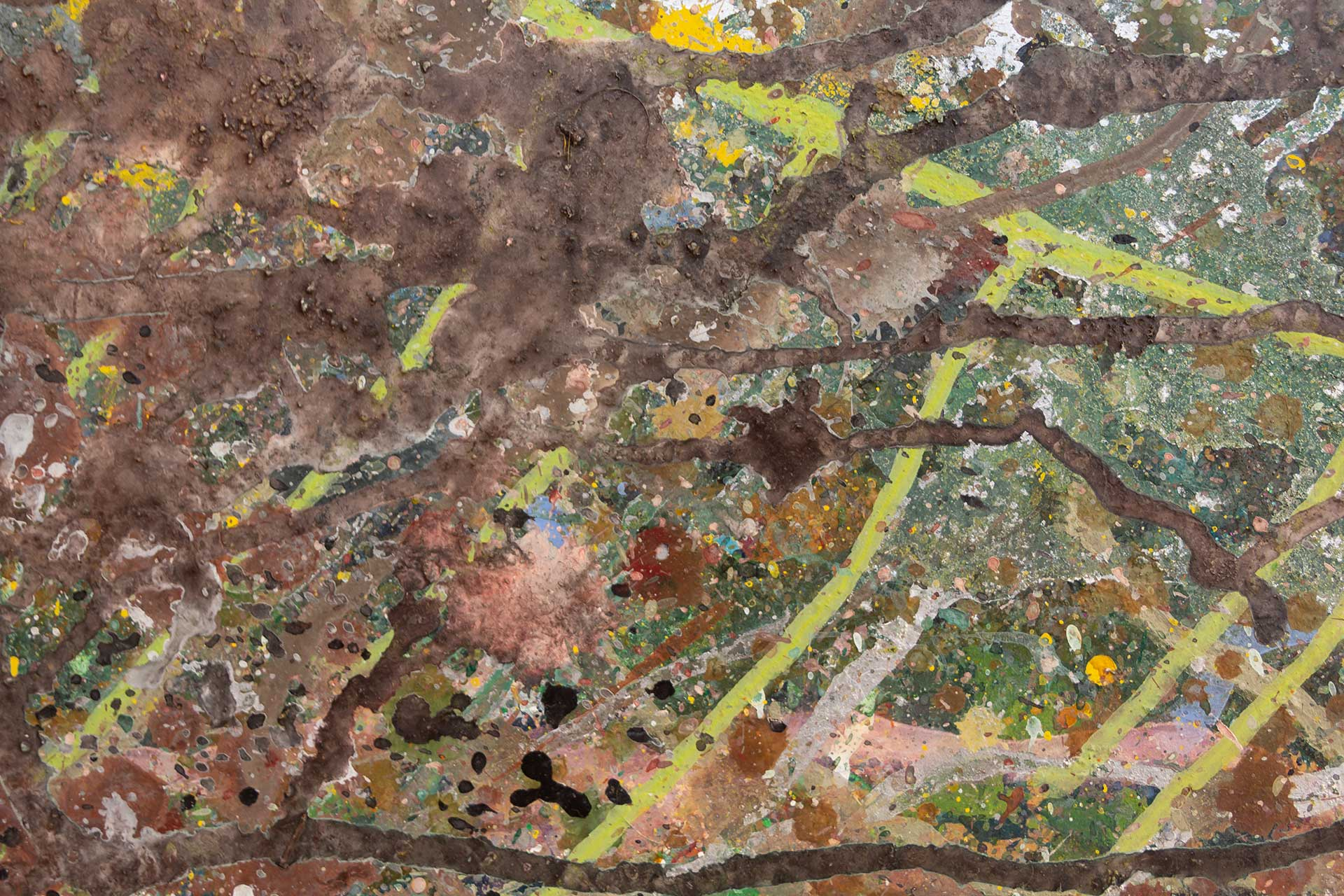 Abstract expressionism painting - Despair - Detail 3