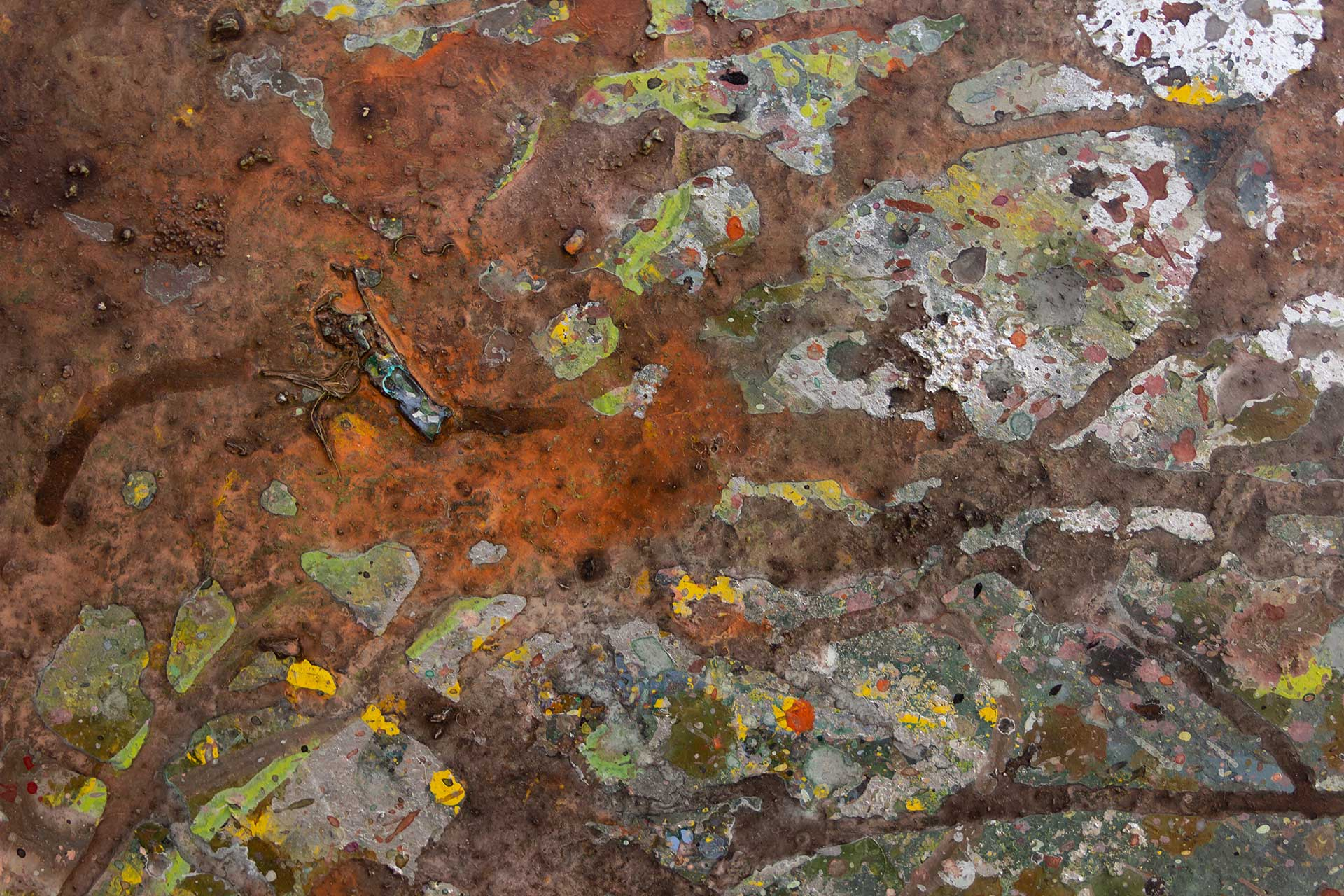 Abstract expressionism painting - Despair - Detail 5