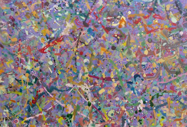 Abstract expressionism painting - Explosion in a lolly shop - Detail 1