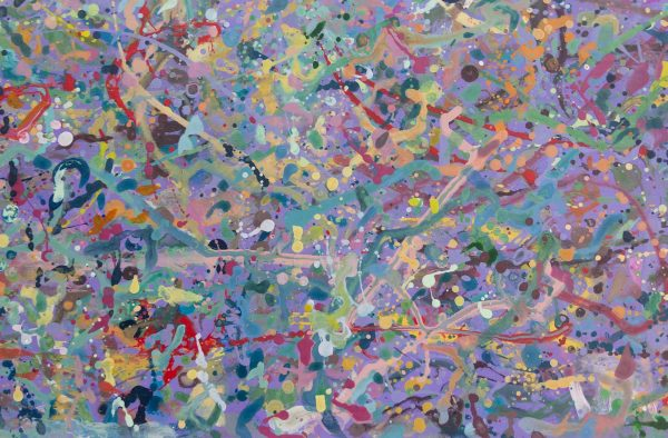 Abstract expressionism painting - Explosion in a lolly shop - Detail 2