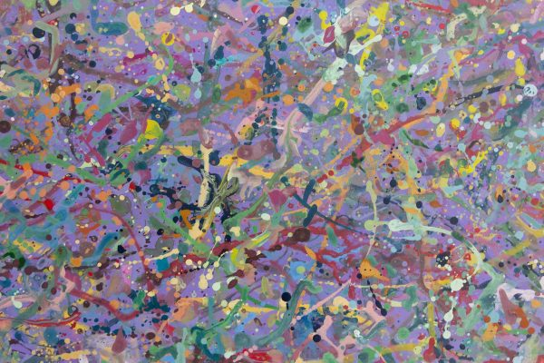 Abstract expressionism painting - Explosion in a lolly shop - Detail 3