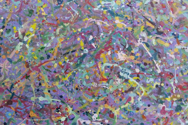 Abstract expressionism painting - Explosion in a lolly shop - Detail 4
