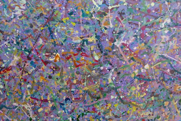 Abstract expressionism painting - Explosion in a lolly shop - Detail 5