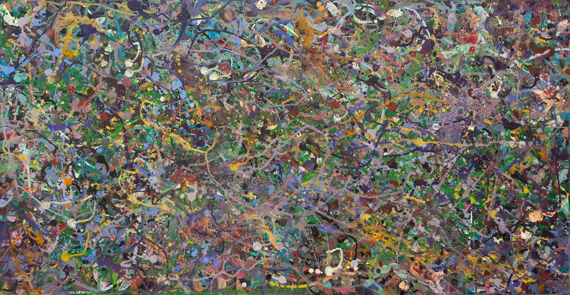 Abstract painting - Field of flowers Yarra Glen 1