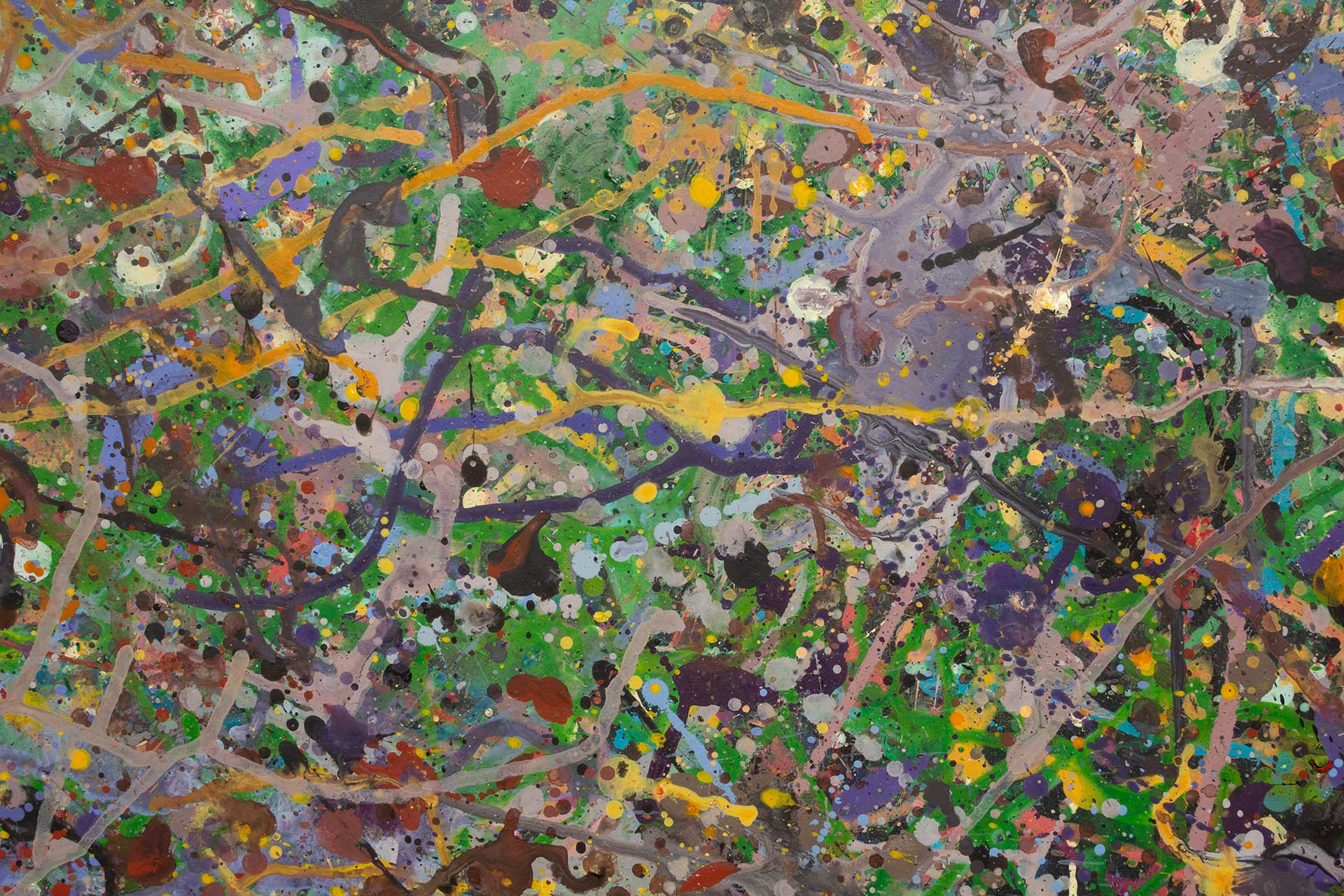 Abstract expressionism painting - Field of flowers - Yarra Glen #1 - Detail 2