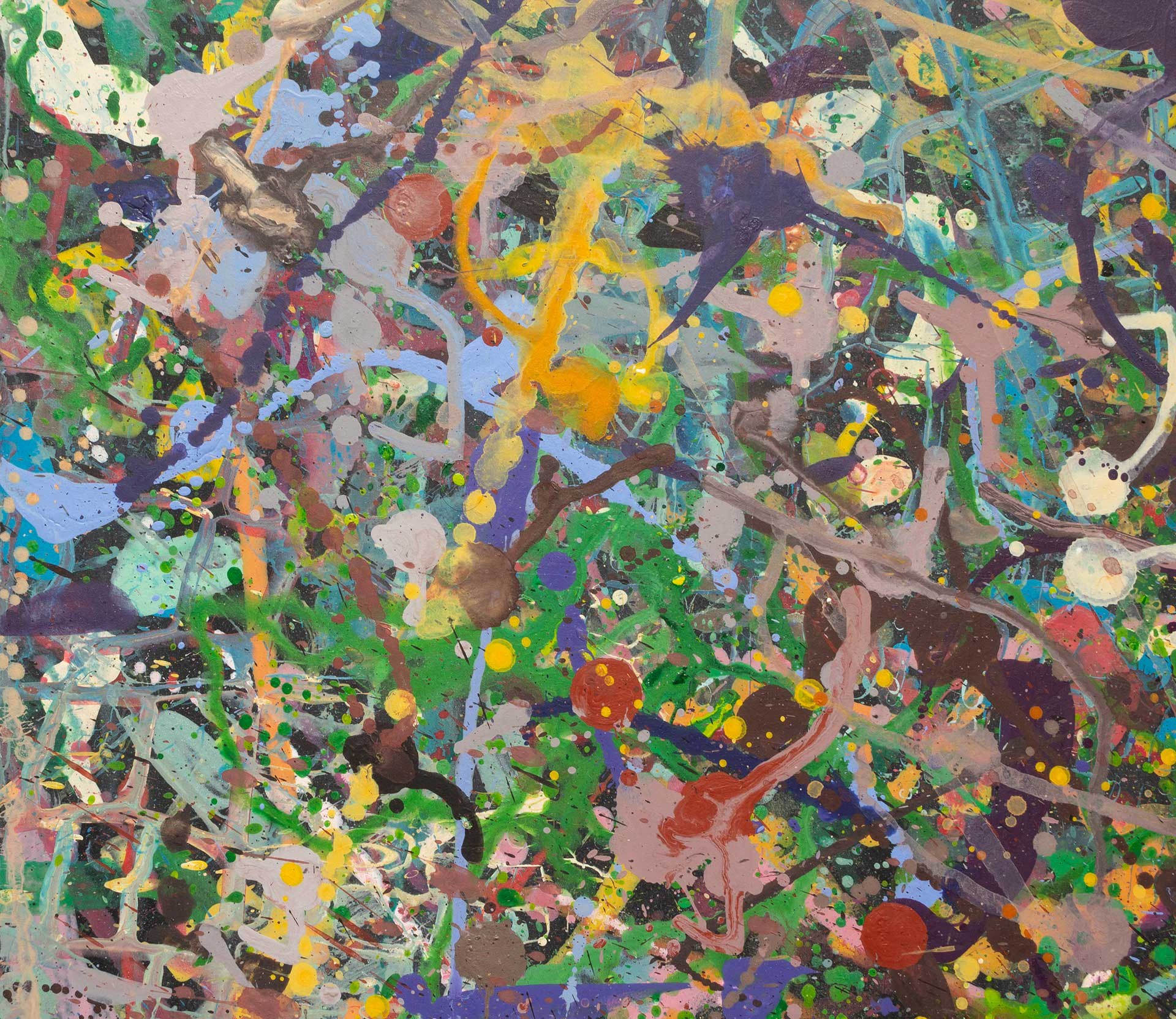 Abstract expressionism painting - Field of flowers - Yarra Glen #1 - Detail 3