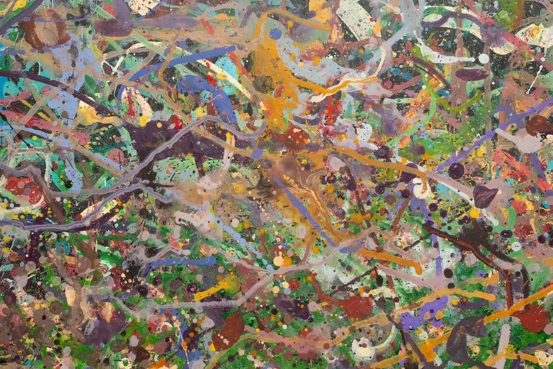 Abstract expressionism painting - Field of flowers - Yarra Glen #1 - Detail 4