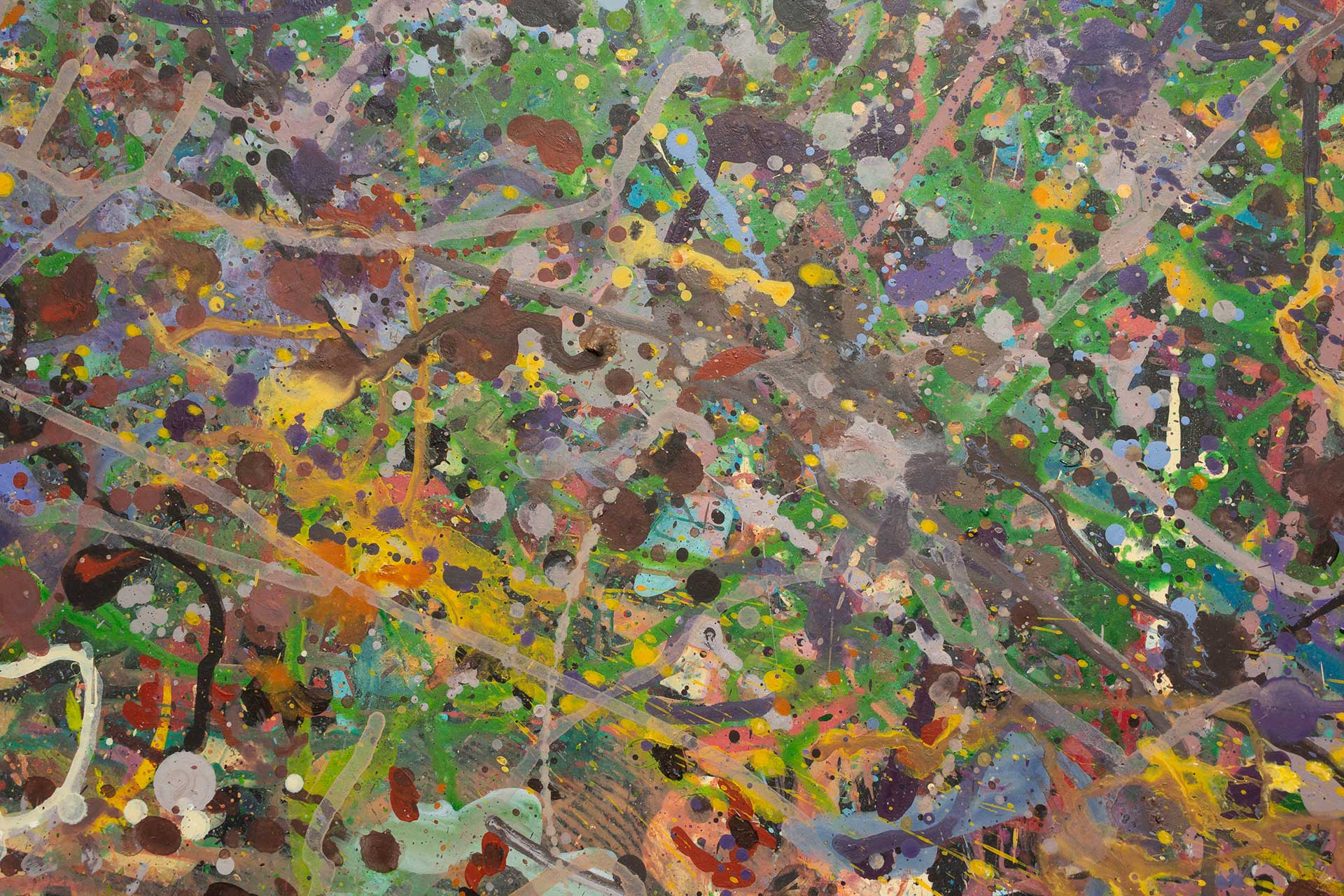 Abstract expressionism painting - Field of flowers - Yarra Glen #1 - Detail 5