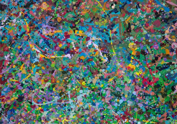Abstract painting - Field of flowers Yarra Glen 2 - Detail 1