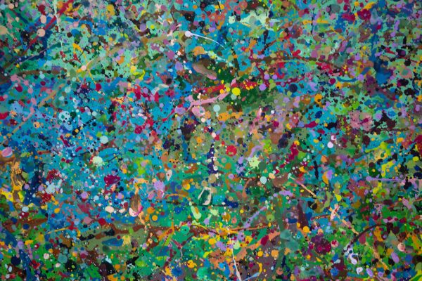 Abstract painting - Field of flowers Yarra Glen 2 - Detail 4