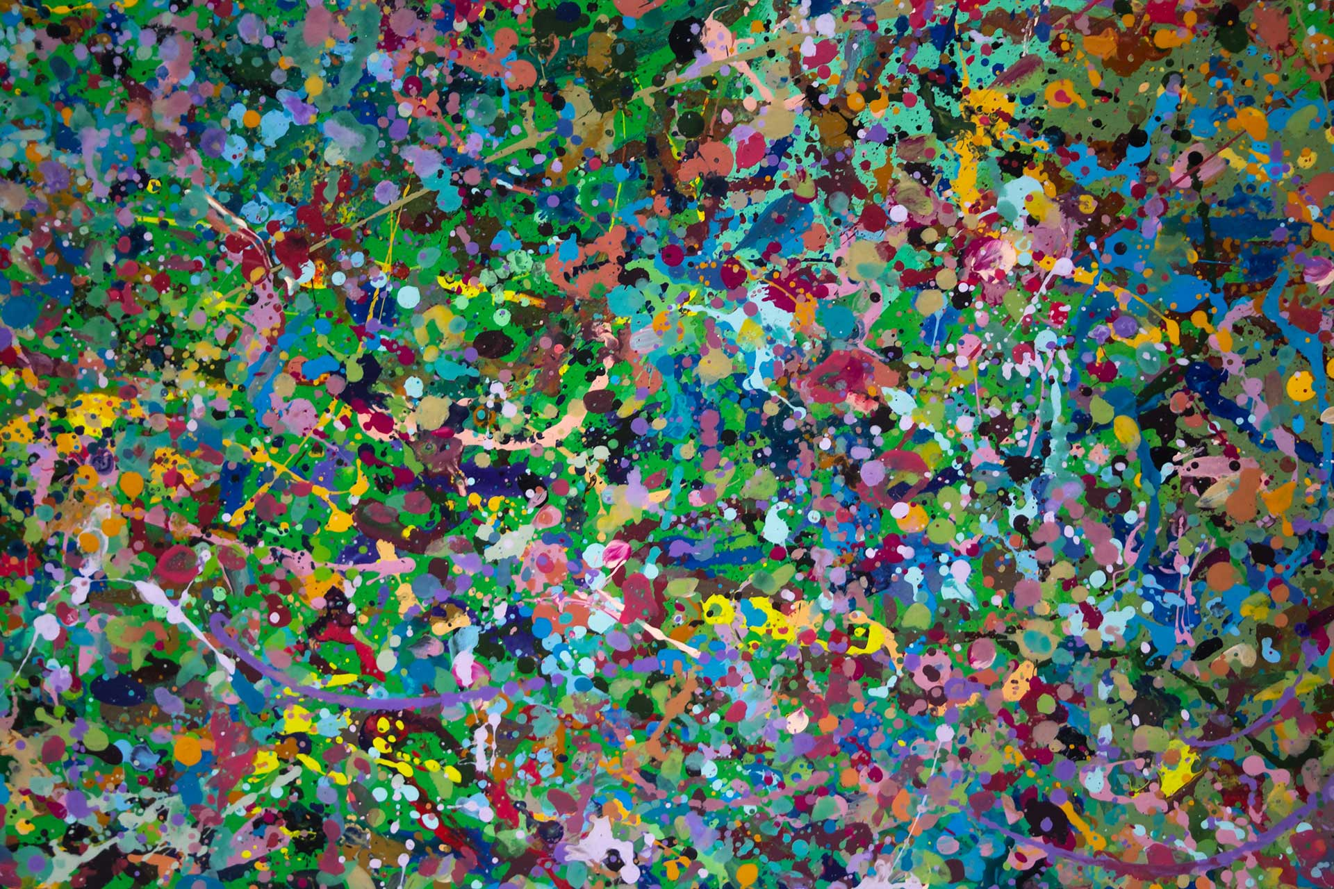 Abstract expressionism painting - Field of flowers - Yarra Glen #2 - Detail 5
