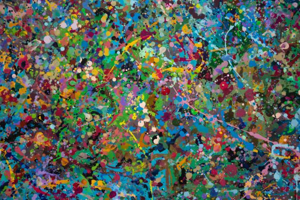 Abstract painting - Field of flowers Yarra Glen 2 - Detail 2