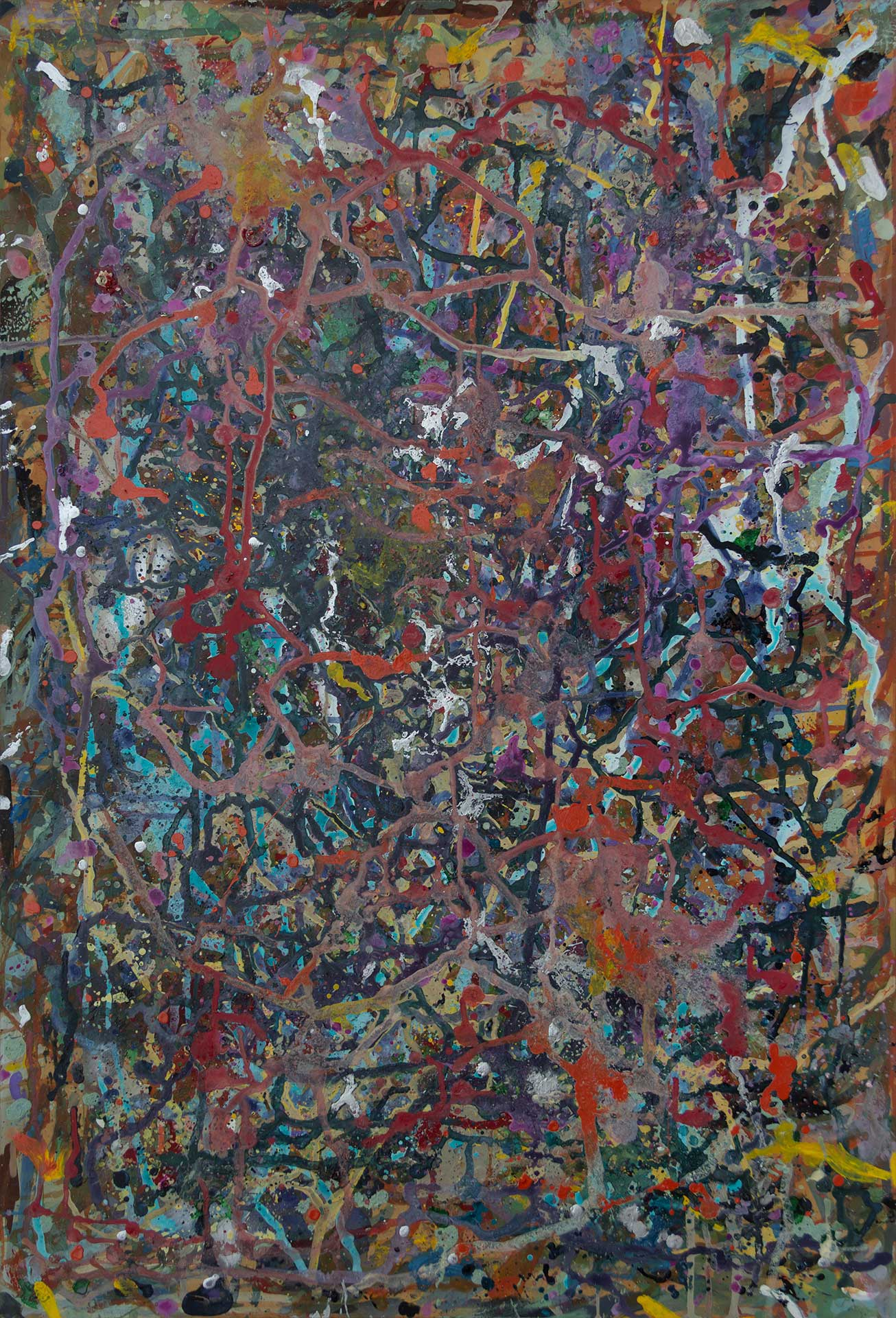 Abstract expressionism painting - Fight of the aliens #2