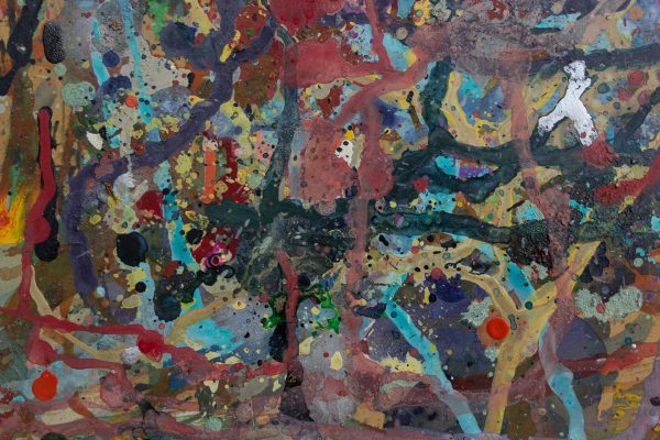 Abstract painting - Fight of the Aliens 2 - Detail 2