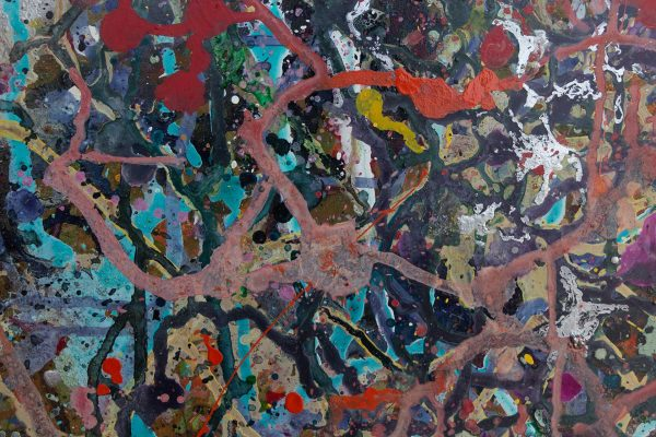 Abstract painting - Fight of the Aliens 2 - Detail 3