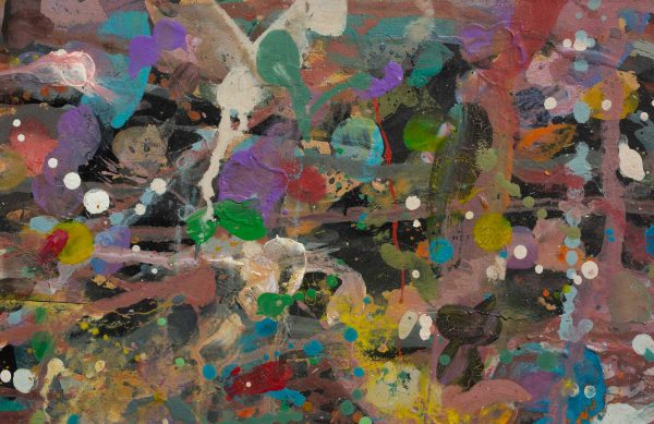Abstract painting - Primate dancing - Detail 1