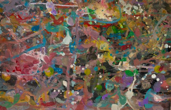 Abstract painting - Primate dancing - Detail 2