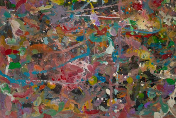 Abstract painting - Primate dancing - Detail 3