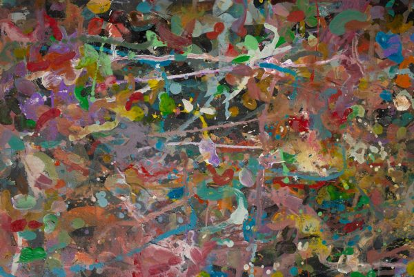 Abstract painting - Primate dancing - Detail 4