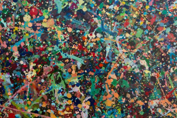 Abstract painting - The joy of listening to Jimi Hendrix - Detail 5