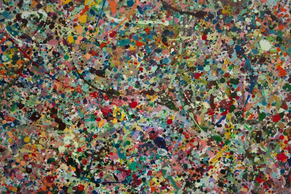 Abstract painting - The most beautiful man that ever lived - Detail 3