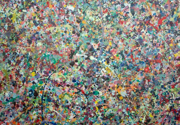 Abstract painting - The most beautiful man that ever lived - Detail 4