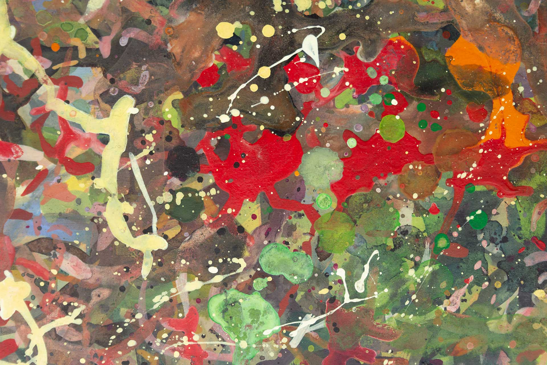 Abstract expressionism painting - Boxing match - Detail 1