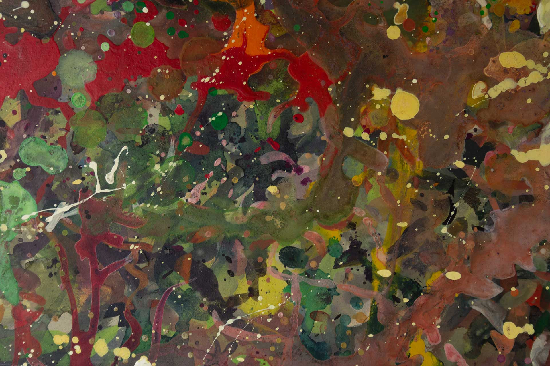 Abstract expressionism painting - Boxing match - Detail 3